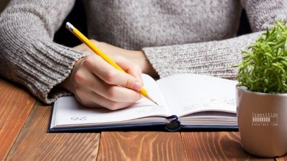 Documenting your journey - image of person writing